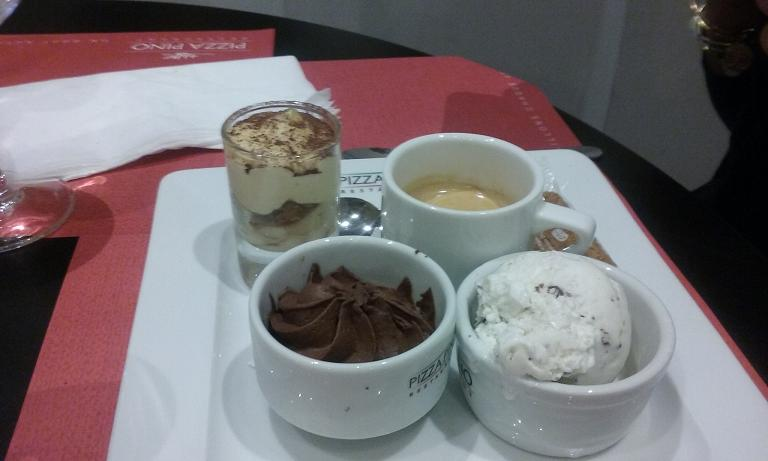 Cheese Cake, Chocolate Mousse and Glace