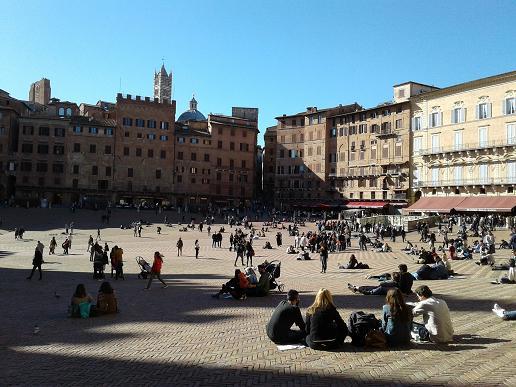 relaxing in Siena